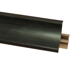 Плинтус 28 Орех лесной, 3000 мм, El-mech-plast