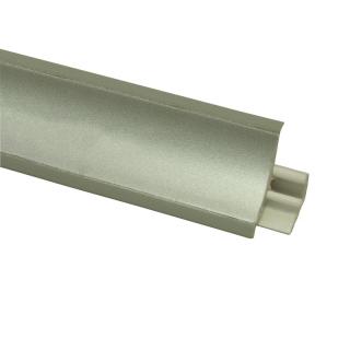 Плинтус 101 Серебро, 3000мм, El-mech-plast