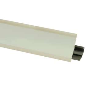 Плинтус 135 Белый глянец, 3000 мм, El-mech-plast