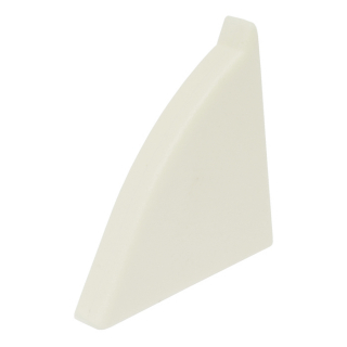 Заглушка к плинтусу правая WAP3 AC 01, белая, Egger