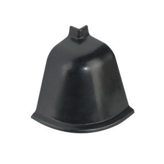 Угол наружный к плинтусу 118 черная 98104, Rehau