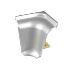 Угол внутренний к плинтусу LB-37 Алюминий 310, Korner
