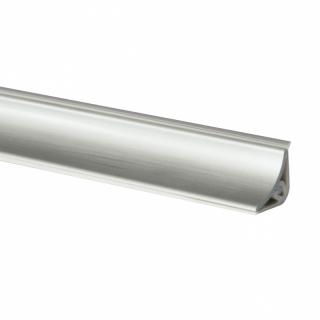 Плинтус LB-15 Алюминий, 3000 мм, Korner
