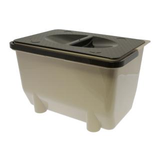 Контейнер для хранения отходов 5 л, бежевый, Mesan