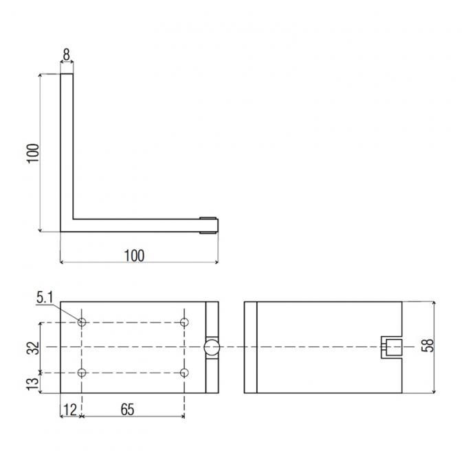 Ножка регулируемая NA 20, H=100, алюминий
