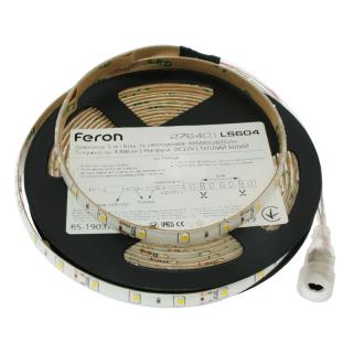 Светодиодная лента LS604, 60SMD/м, 4.8Вт/м, 12V, тёплый белый, Feron