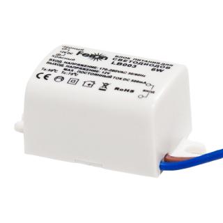 Трансформатор LB003 для светодиодной ленты, 6W, 12V, IP20, Feron