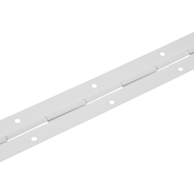 Петля рояльная L=1700 мм, H=30,4 мм, S=0,8 мм, Белая