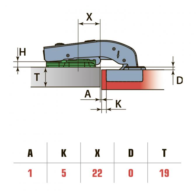 Петля 180 равнолежащая, Soft Close, Linken System