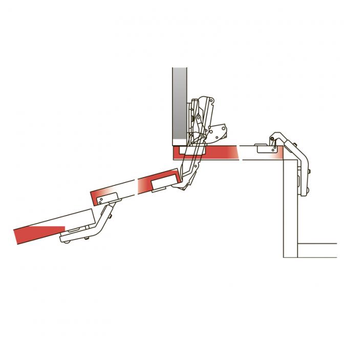 Петля-робот 155, Soft Close, Clip-On, 3D, Linken System