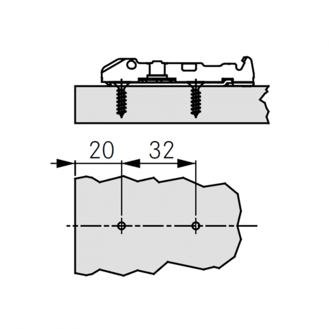 Монтажная планка Tiomos, линейная, H=0 мм, Grass