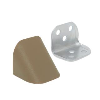 Уголок двойной металл/пластик, дуб рустикаль