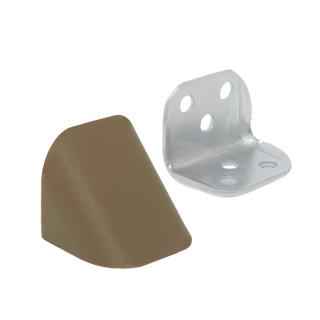Уголок двойной металл/пластик, орех