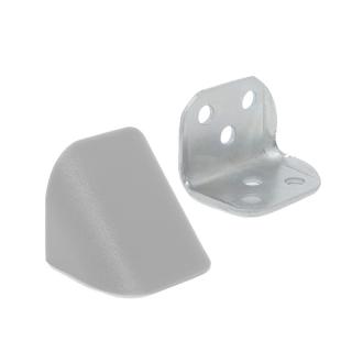 Уголок двойной металл/пластик, серый