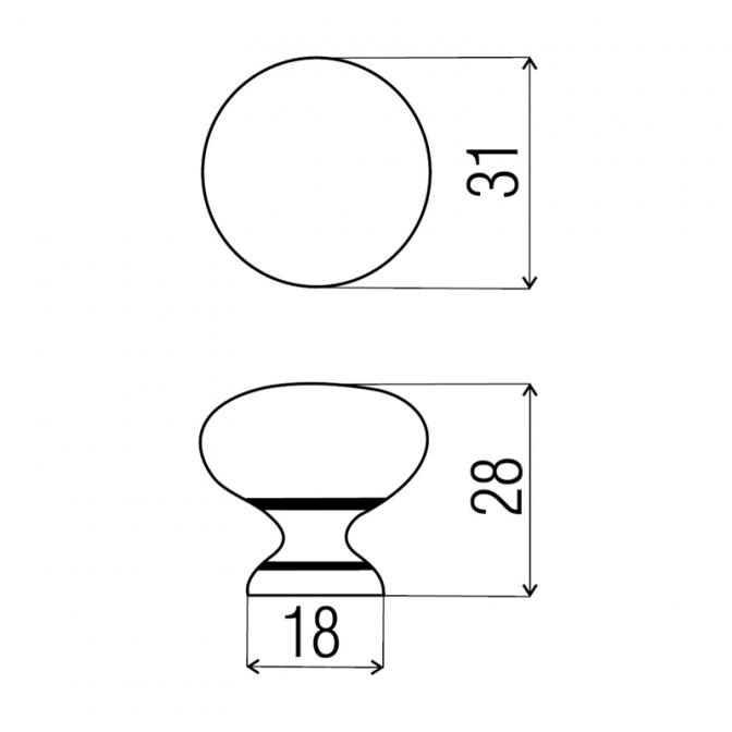 Ручка мебельная GP-16, сатин, DC (OL)