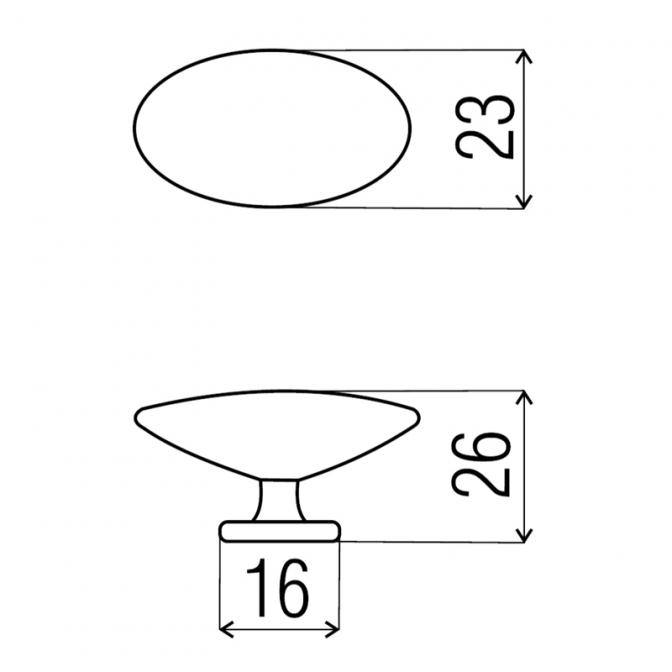 Ручка мебельная GP-09, сатин, DC (OL)