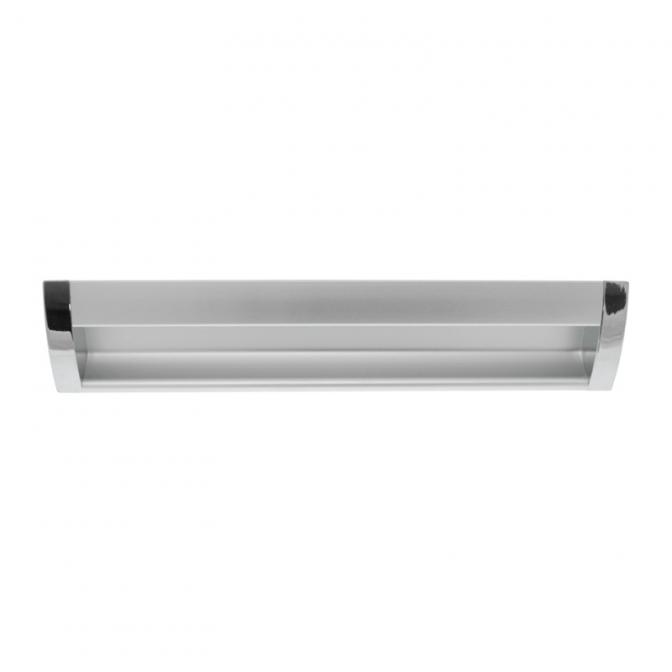 Ручка мебельная UA-08, 128 мм, алюминий/хром