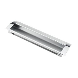 Ручка мебельная UA-08, 192 мм, алюминий/хром