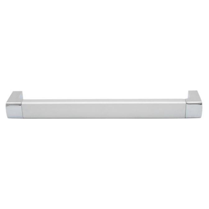 Ручка мебельная D-740, 128 мм, алюминий/хром, DC (OL)