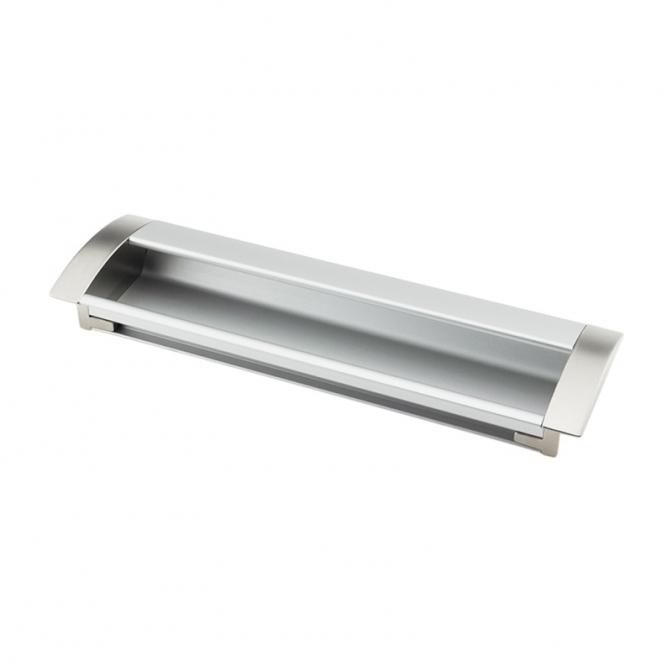 Ручка мебельная UA-08, 224 мм, алюминий/сатин, DC