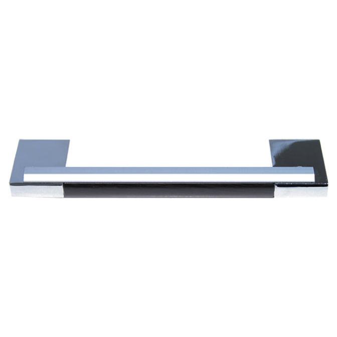 Ручка мебельная D-450, 192 мм, венге/хром, DC