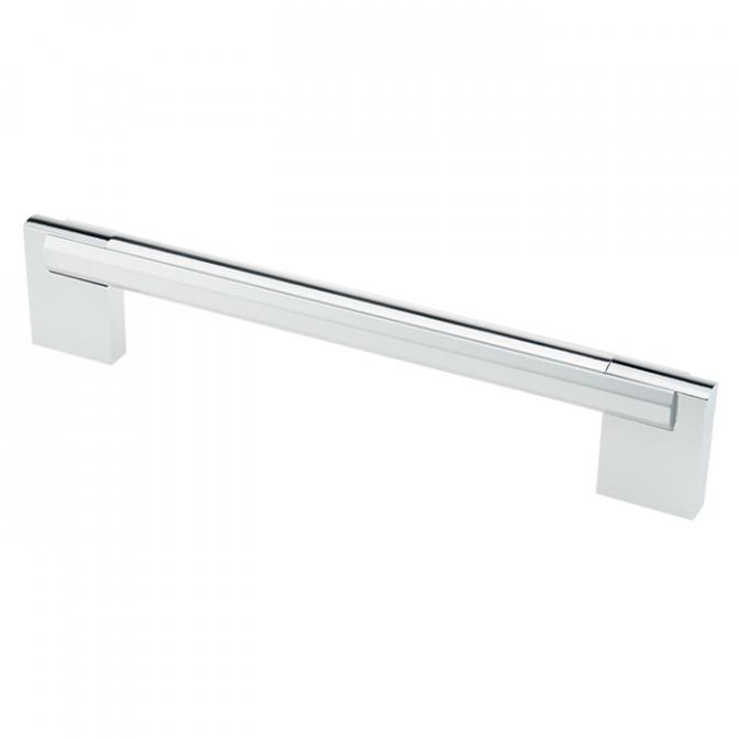 Ручка мебельная D-450, 192 мм, алюминий/хром, DC