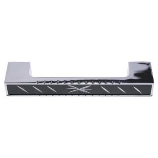 Ручка мебельная 157, 128 мм, чёрная/хром