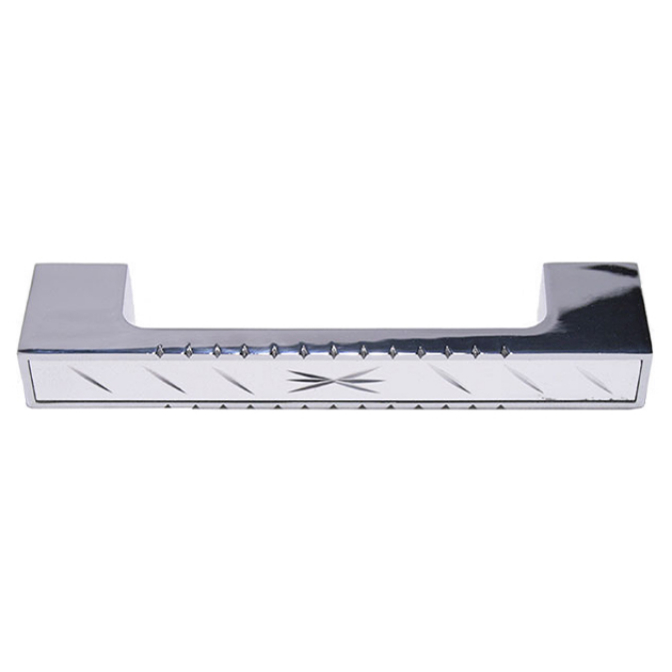 Ручка мебельная 147, 128 мм, сатин/хром