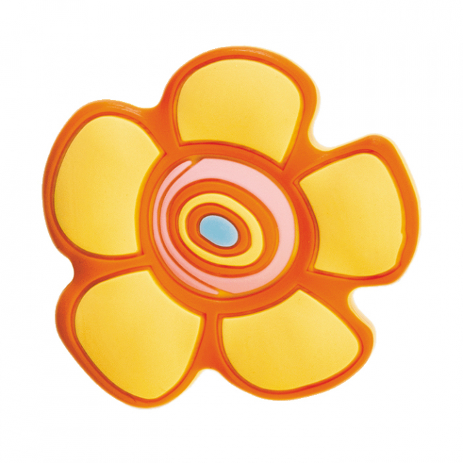 Ручка мебельная KID-C Цветок желтый, GTV