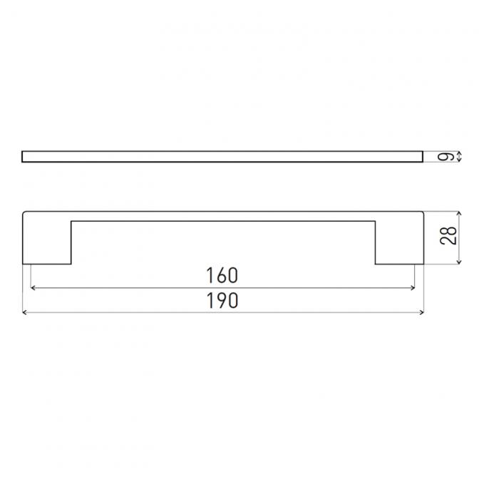 Ручка мебельная D-705, 160 мм, коричневая, DC