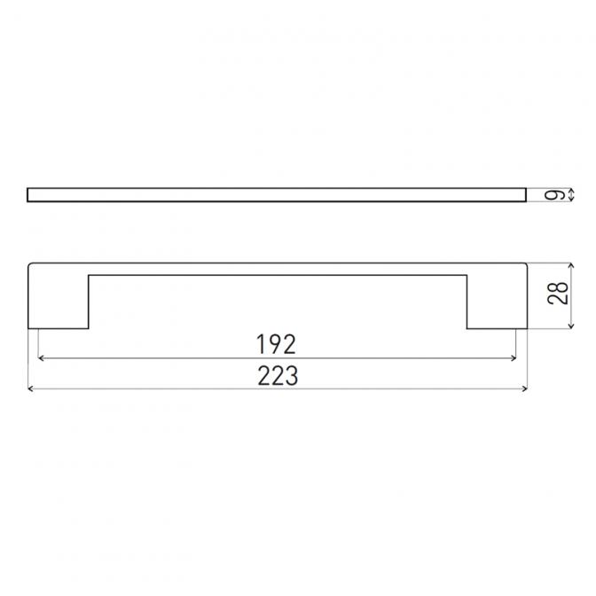 Ручка мебельная D-705, 192 мм, чёрная, DC