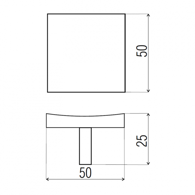 Ручка мебельная K-728, алюминий, DC (OL)