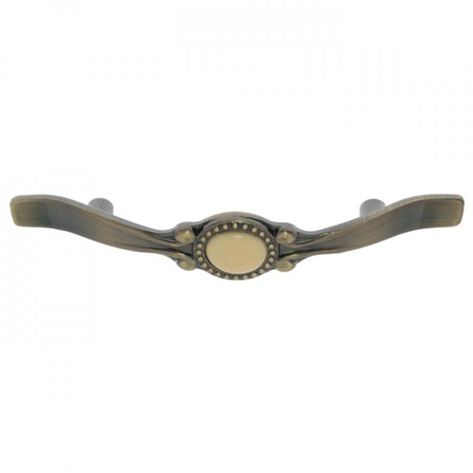 Ручка мебельная DF-01, 76 мм, бронза, DC (OL)