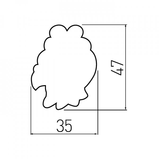 Ручка мебельная KID-O Курочка, GTV