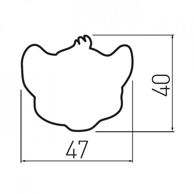 Ручка мебельная KID-I Тигрик, GTV