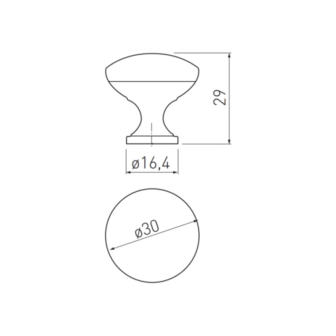 Ручка мебельная Terni, медь, GTV