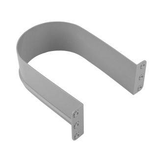 Пластиковый ограничитель для сифона U - образный, серый, Mesan