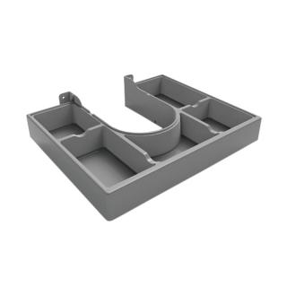 Пластиковый ограничитель для сифона с разделителем, серый, Mesan