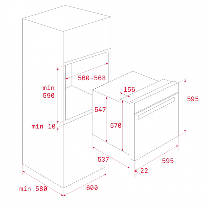 Духовой шкаф Wish Easy HBB 635 (111020012), Teka