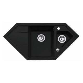 Мойка кухонная Astral 80 E-TG, чёрный металлик, Teka