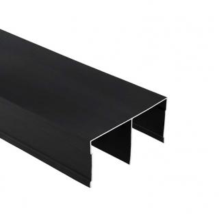 Верхняя направляющая Бавария/Модена, L=5500 мм, чёрный браш, DC Profiline