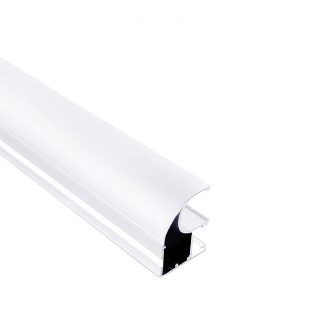 Вертикальный профиль, L=5100 мм, белый глянец, DC Standard