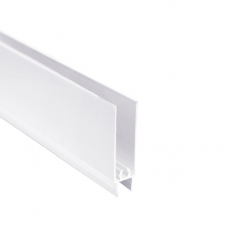 Нижний горизонтальный профиль, L=5500 мм, белый глянец, DC Standard