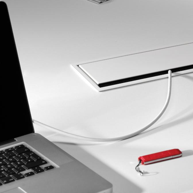 Заглушка для кабеля Merida, чёрный, GTV