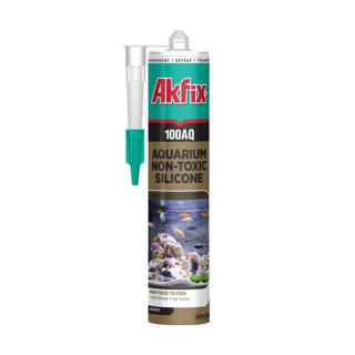 Герметик силиконовый 100AQ аквариумный, прозрачный, Akfix