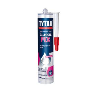 Клей монтажный Classic Fix, прозрачный, Tytan